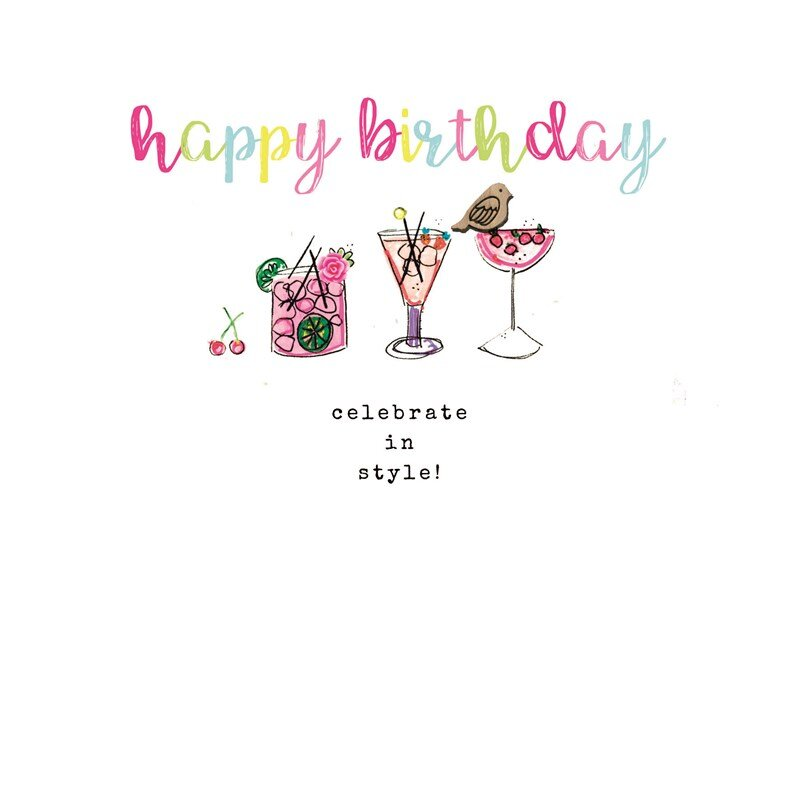 Happy Birthday Cocktails Laura Sherratt Bazaar