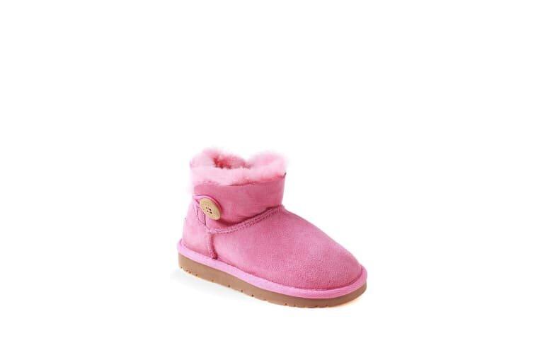 Ozwear UGG Kids Button Ugg Pink