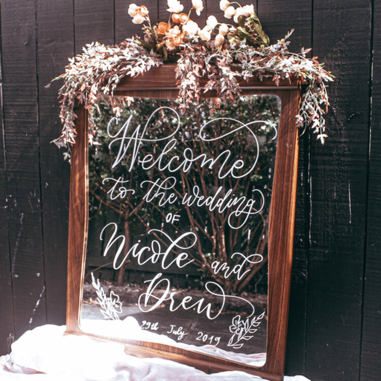 Mirror Wedding Sign
