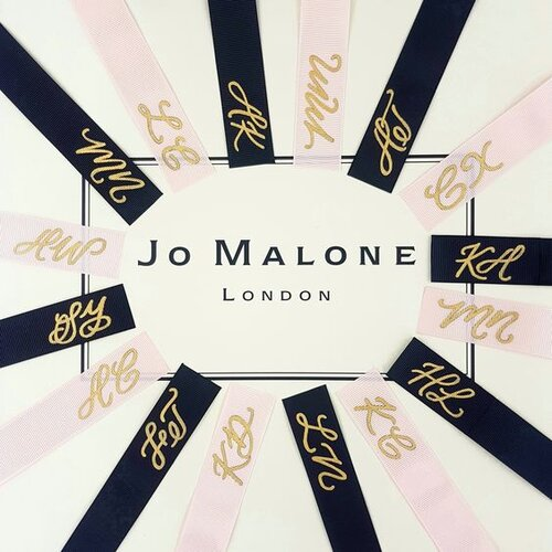 Personalised calligraphy on Jo Malone London Ribbons to celebrate the launch of the Poppy & Barley fragrance in Australia. Ribbons are handpainted by    The iNGk Studio.