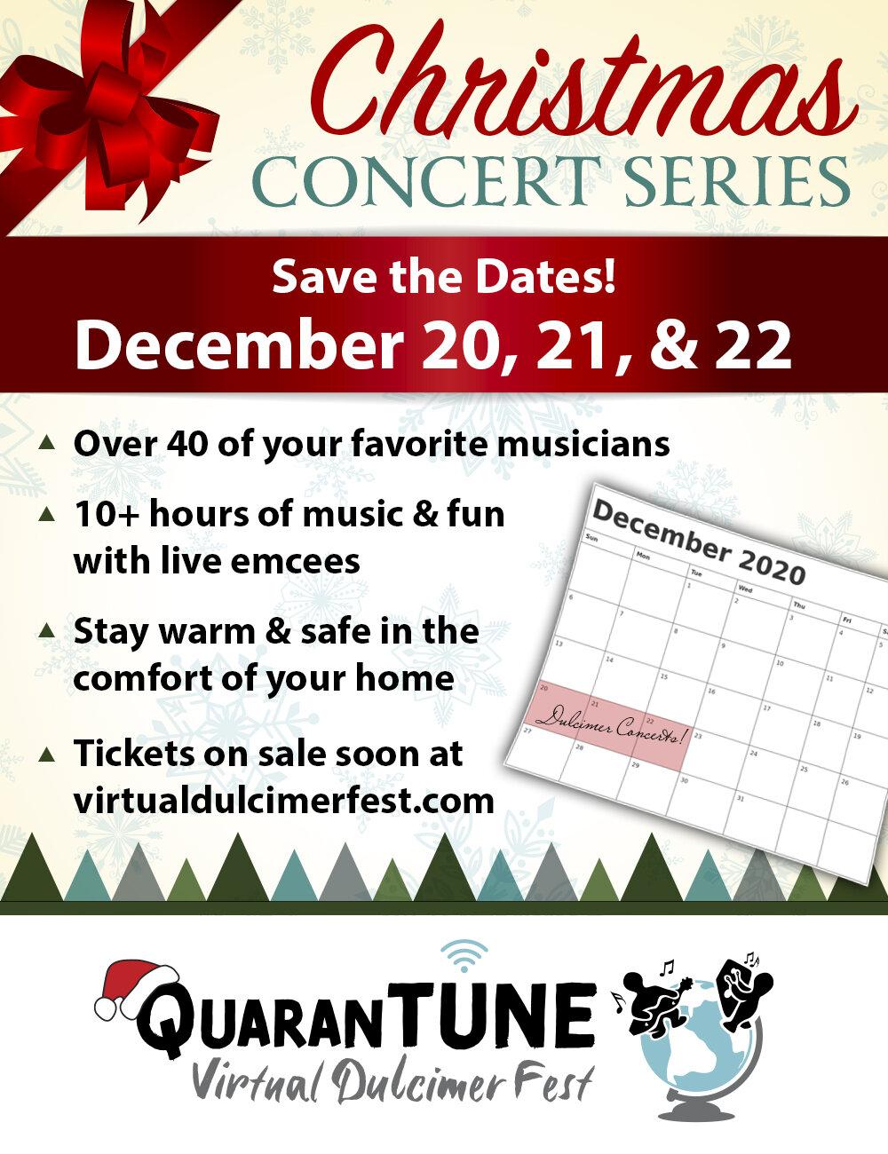 Quarantune Christmas Concert Series December 20 22 2020 Quarantune Dulcimer Festival 2020