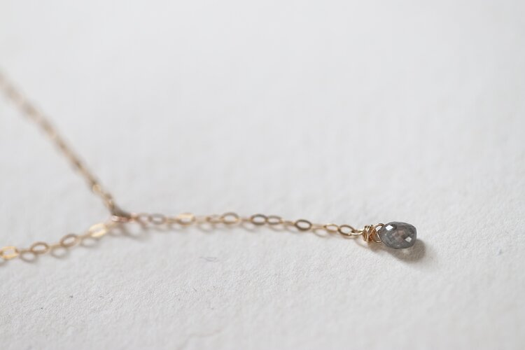 rose-cut grey diamond necklace