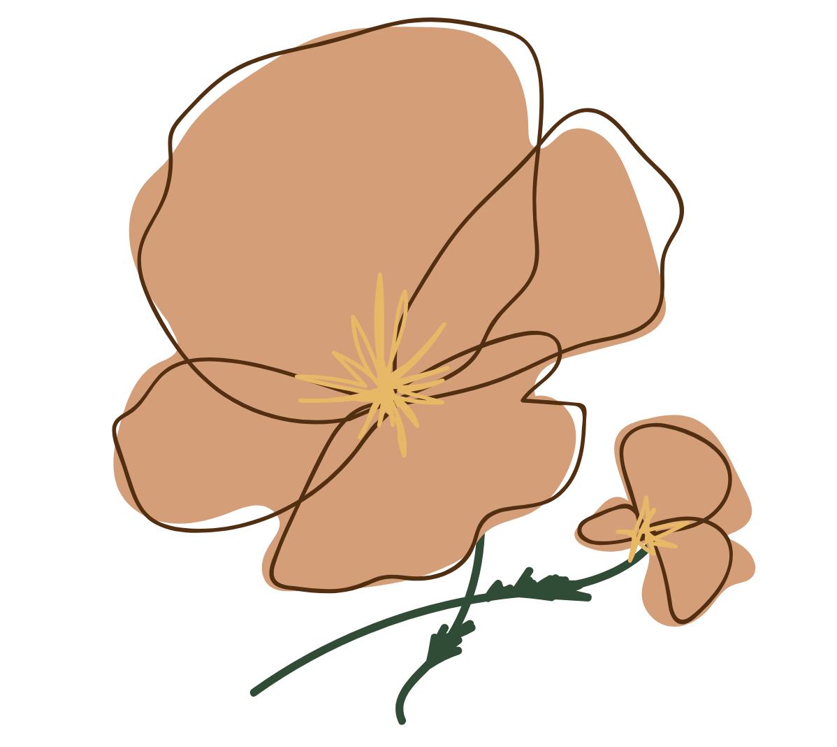flower pressed bookmarks