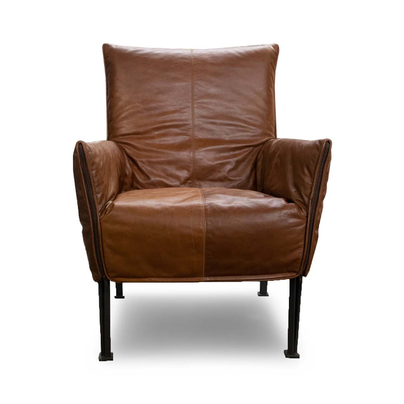 Hugo Steel Chair in Leather — Peter Andrews Furnishers