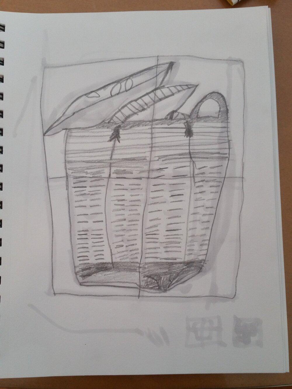 My favorite from my 10 yo's sketch book week 1