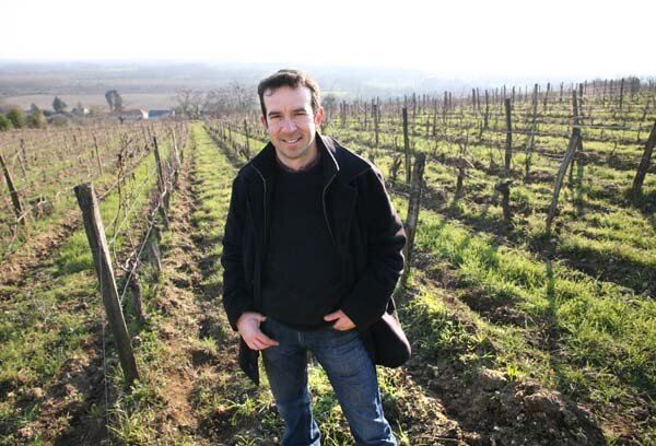 Bernard Baudry in his Chinon vineyards