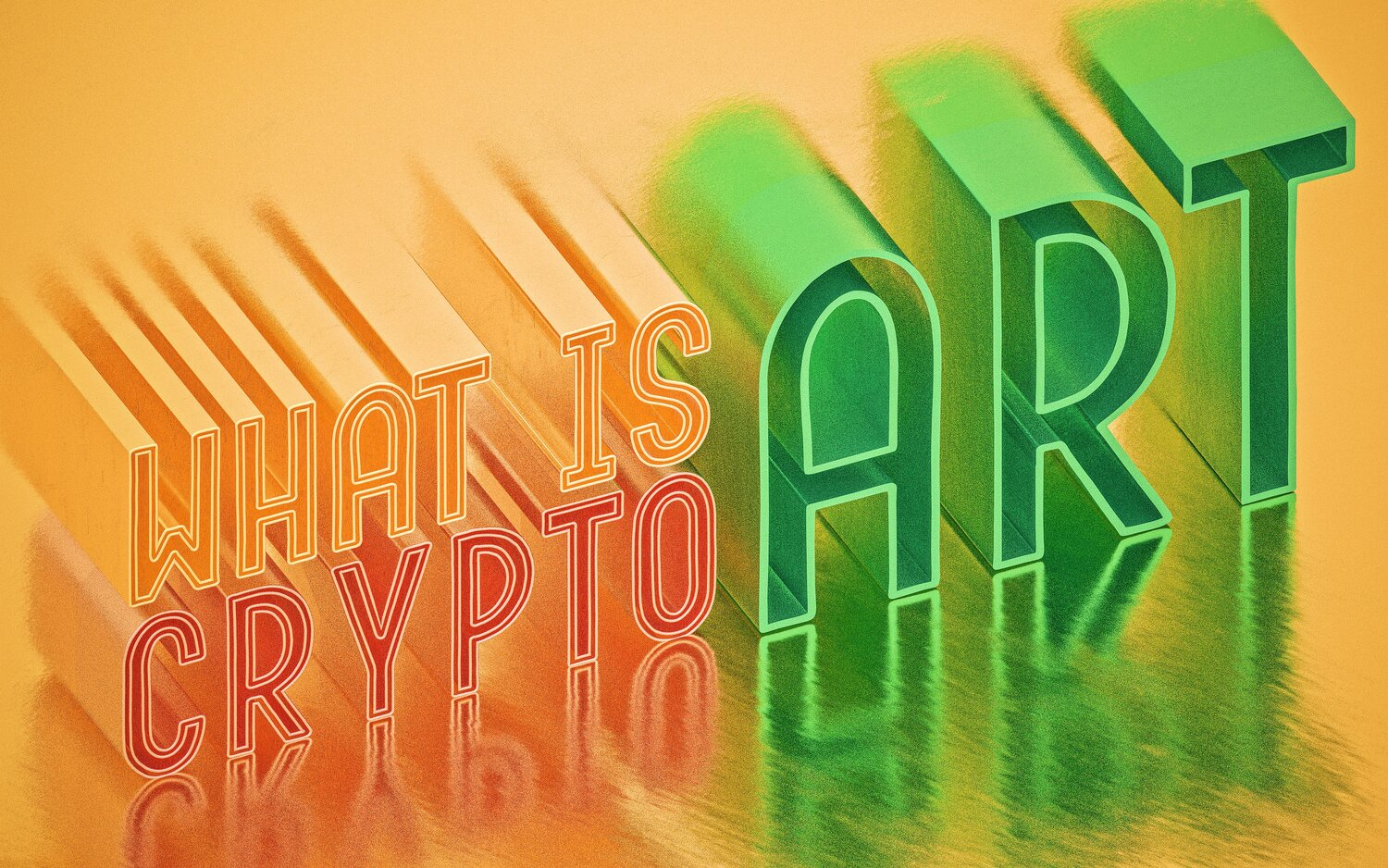 What is Crypto (NFT) Art? In Simple Words — Amrit Pal Singh | 3D Illustrations and Design Assets