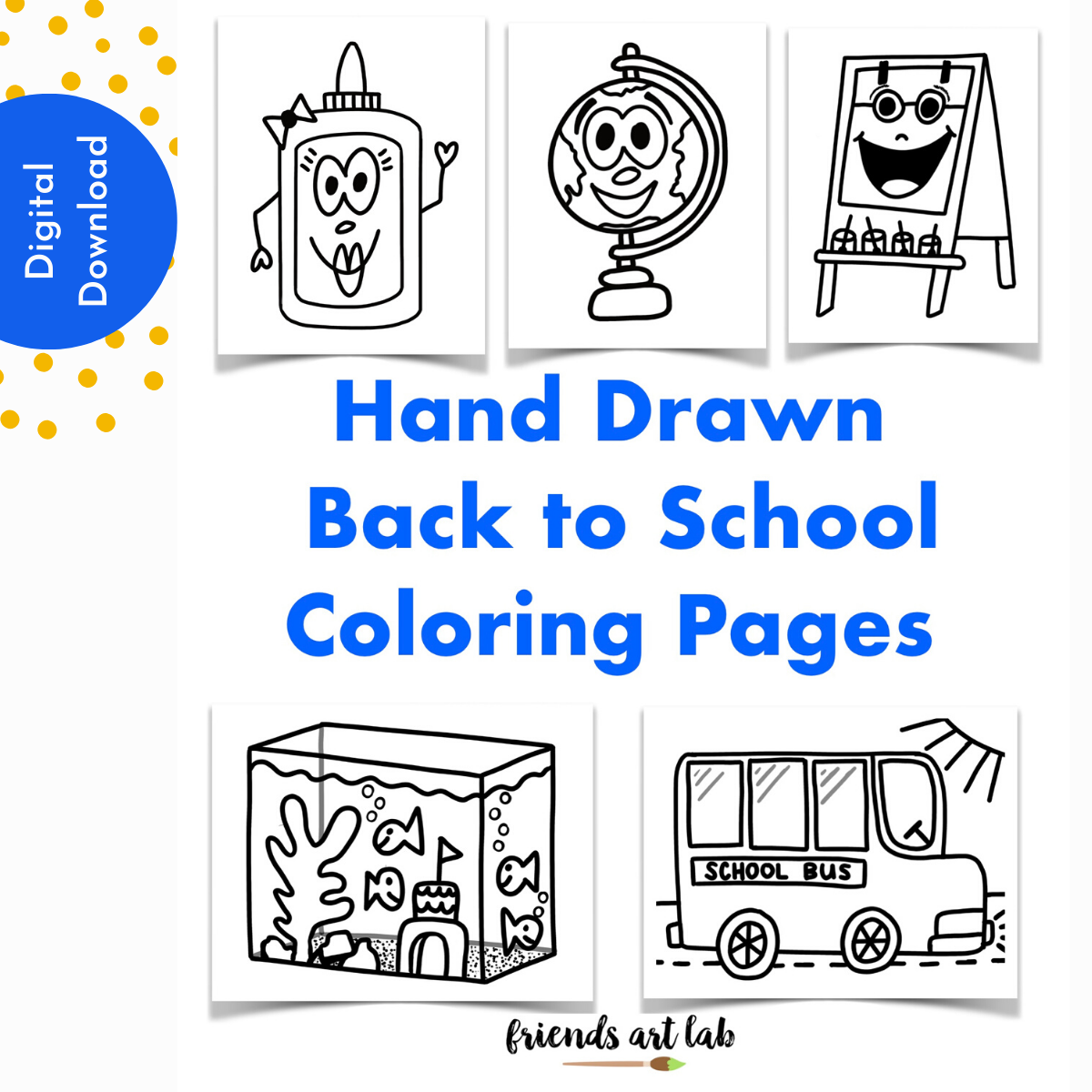 Back to School Coloring Pages — Friends Art Lab