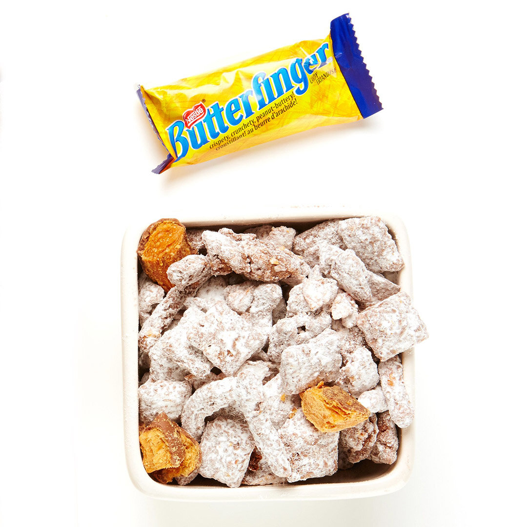 Butterfinger And Pretzel Puppy Chow Recipe Bite Me More