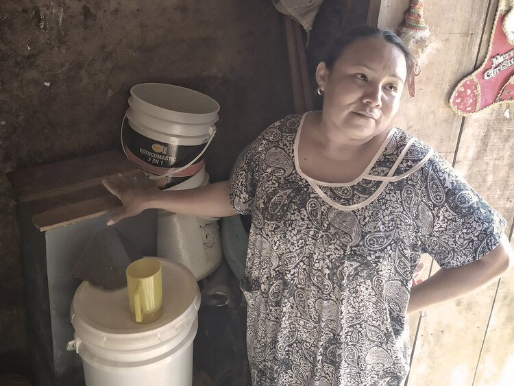 Amalfi and community members who completed the biosand filter training also conduct regular household visits to support the correct use, maintenance, sustainability, and understanding of families using the filter.