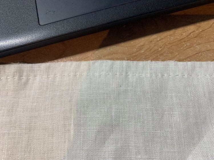 Lovely straight seam, though, huh?