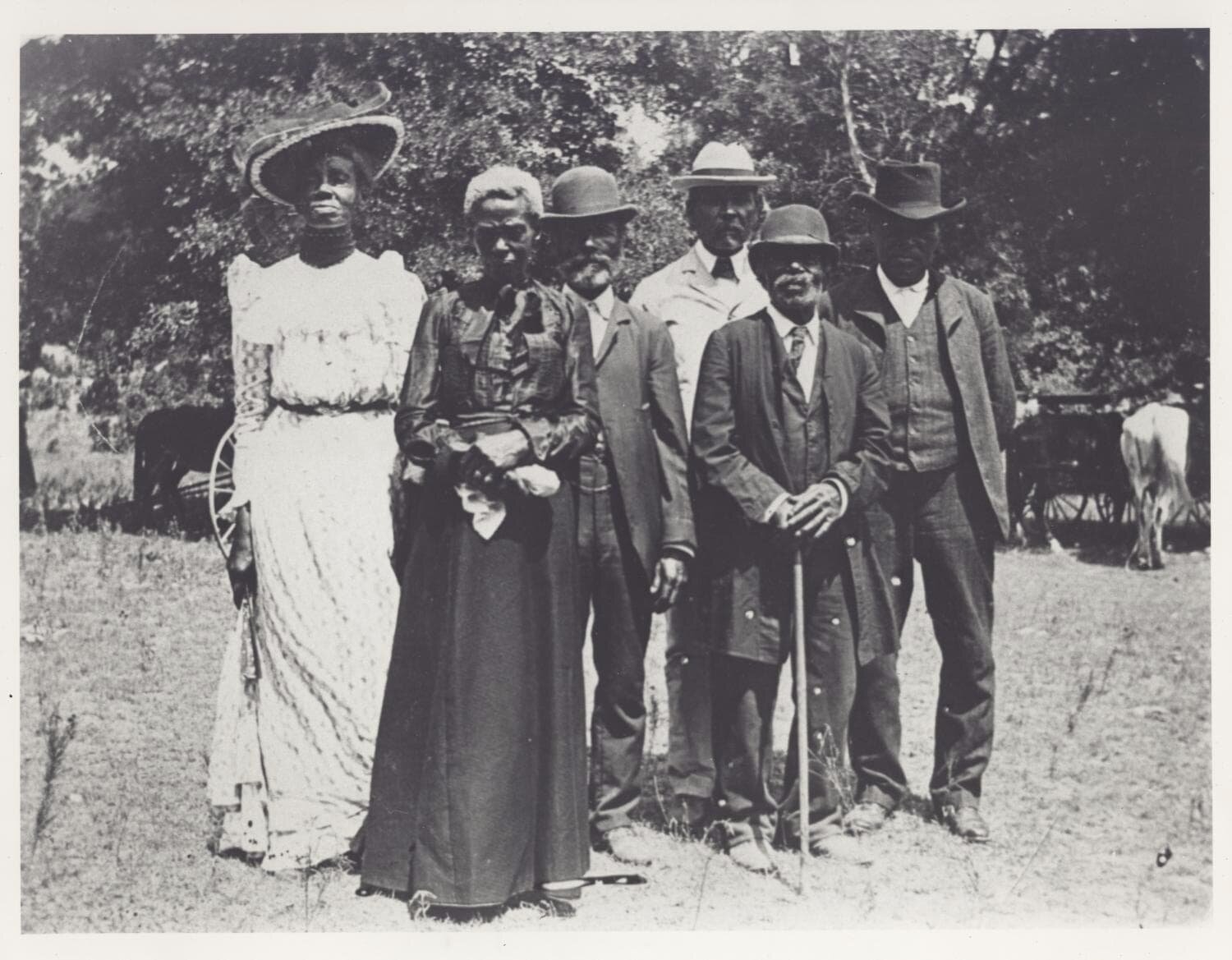 An early celebration of Emancipation Day (Juneteenth) in 1900.