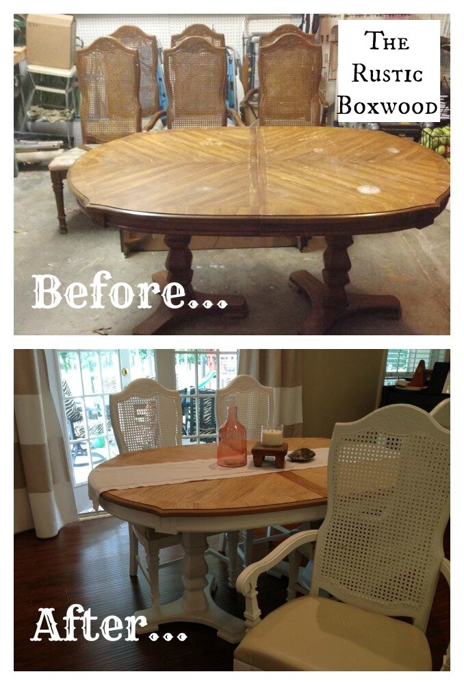 Vintage Dining Table And Chairs Transformation The Rustic Boxwood