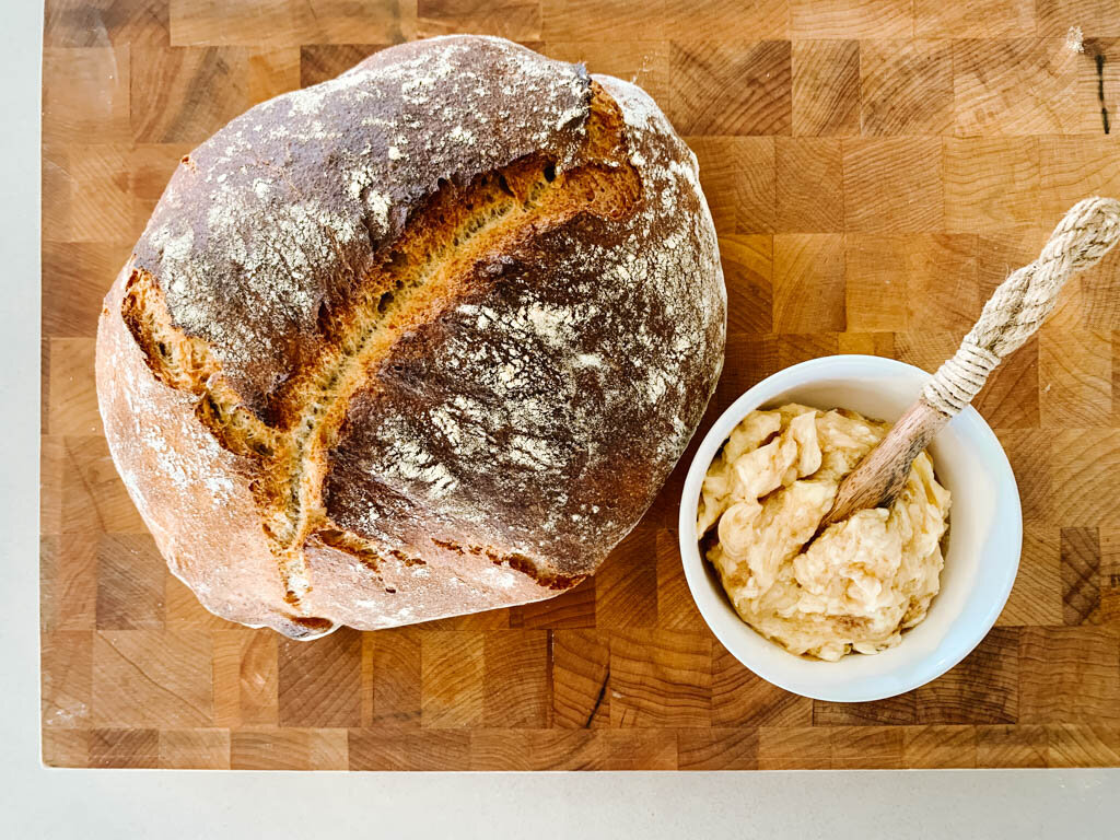 Sourdough For Cheaters With Whipped Maldon Cinnamon Honey Butter Lil Pinkies Up