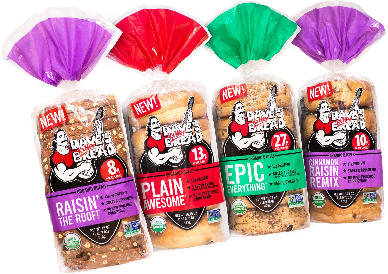 Dave S Killer Bread Breaks Into Breakfast With Bold New Line Of Organic Bagels Cinnamon Raisin Bread Dave S Killer Bread