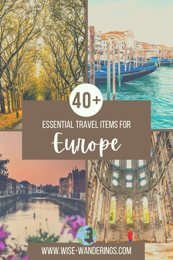 40+ Essential Travel Items for Europe