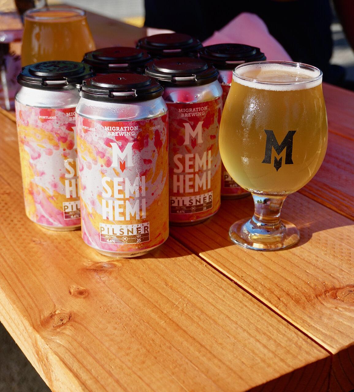 迁移酿造半半干比尔森啤酒