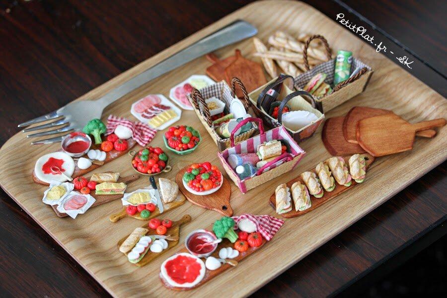 微型美味食品雕塑,2014年,斯蒂芬妮·基尔加斯特(StéphanieKilgast)