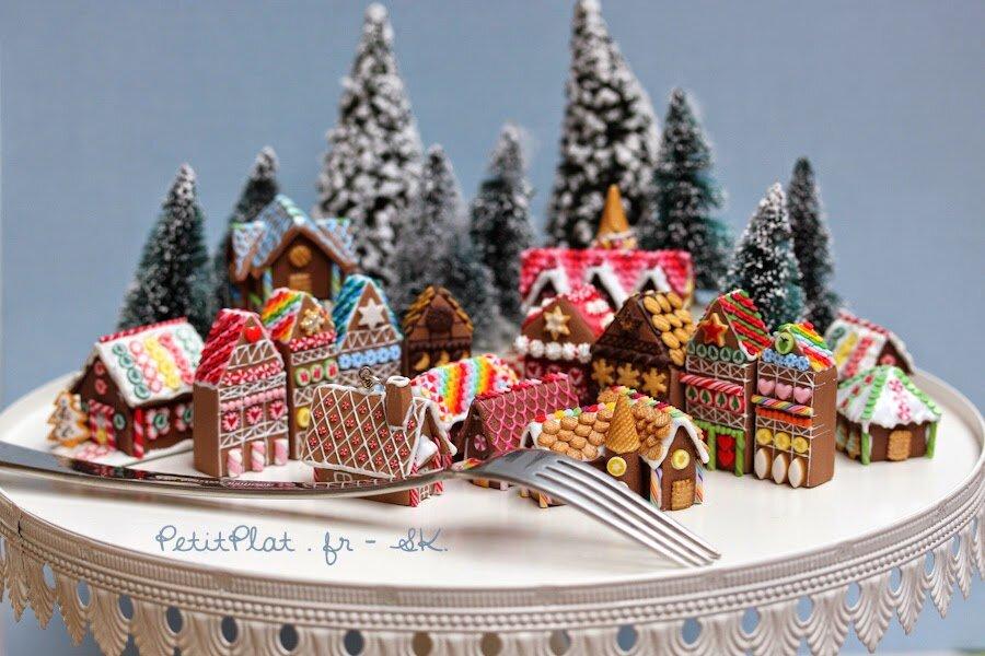 微型姜饼屋雕塑,2014年圣诞节,史蒂芬妮·基尔加斯特(StéphanieKilgast)