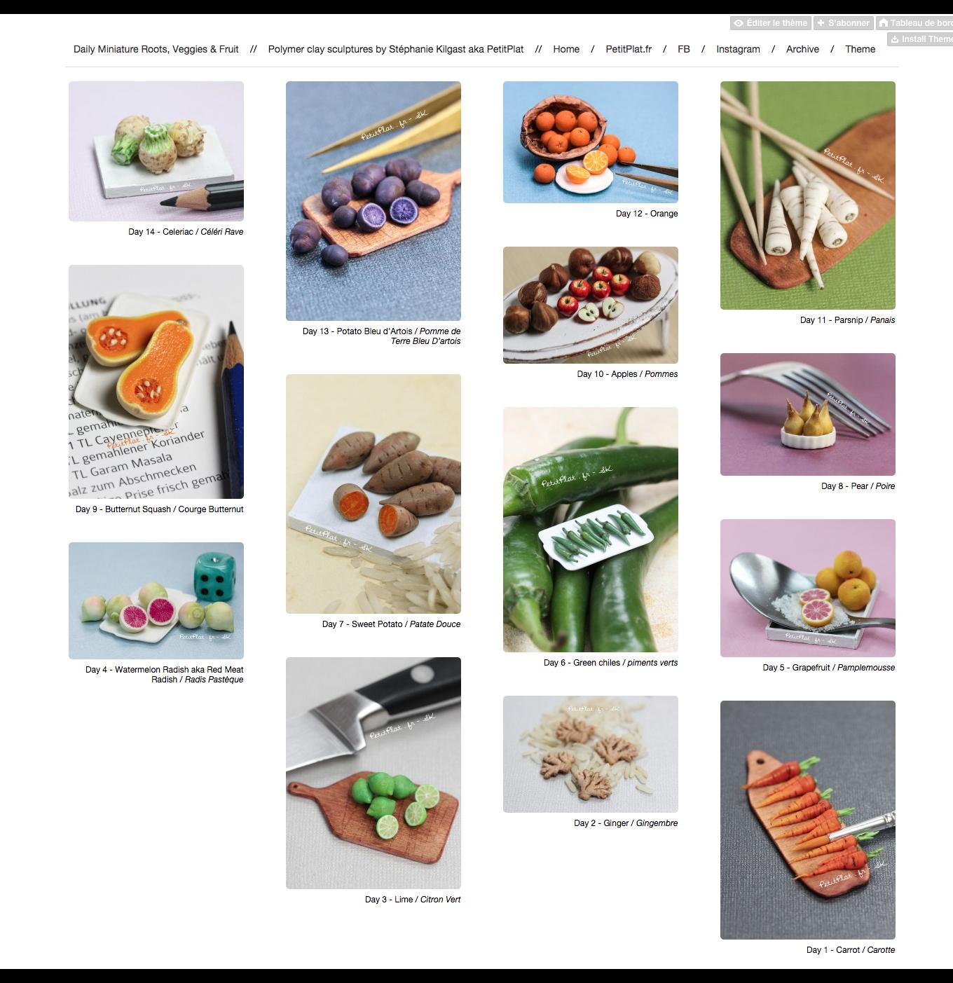每日迷你蔬菜,2015年第2周,斯特凡妮·基尔加斯特(StéphanieKilgast)