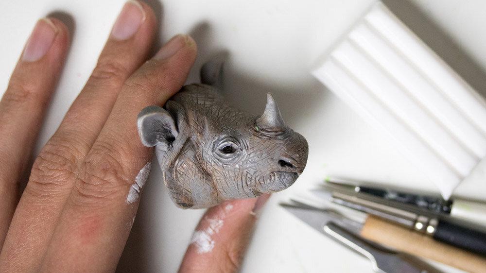 爪哇犀牛雕塑,濒临灭绝的物种,斯特凡妮·基尔加斯特