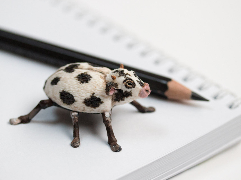 Cow'cinelle,牛/瓢虫,雕塑,2017