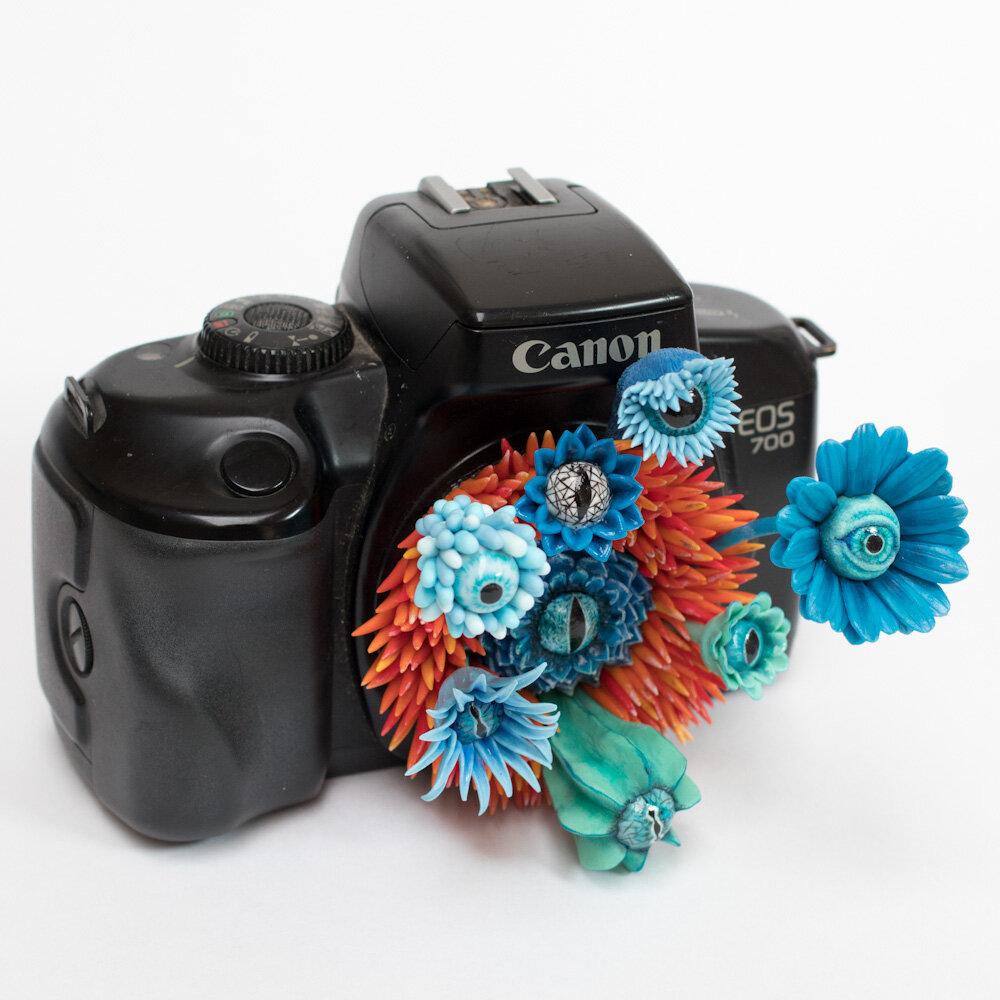 监控摄像机,雕塑,2017,斯蒂芬妮·基尔加斯特(Stephanie Kilgast)艺术品