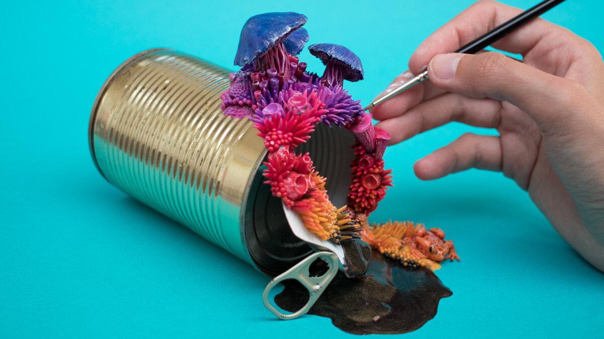 日出, Tin Can Sculpture, 2018, Stephanie Kilgast