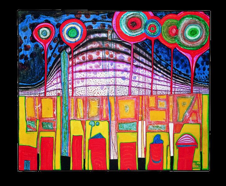 Manica di Camicia,1969年,Hundertwasser