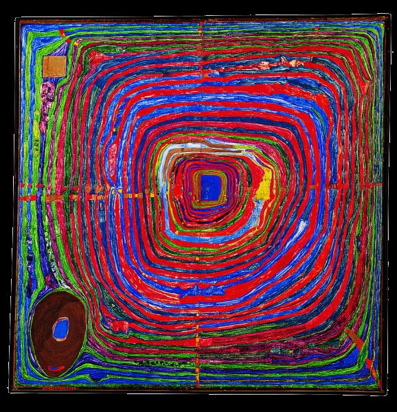 Le Grand Chemin,1955年,Hundertwasser