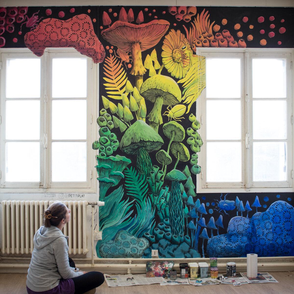 壁画,代代尔,瓦讷,斯特凡妮·基尔加斯特