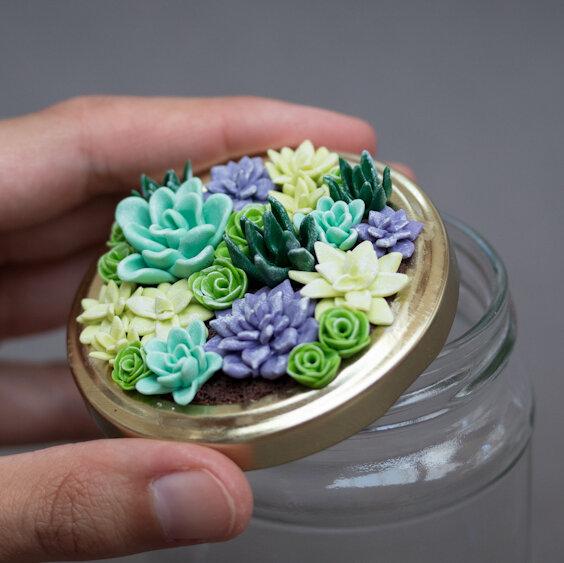 微型多肉花园罐子-如何用聚合物粘土雕刻,斯蒂芬妮·基尔加斯特(Stephanie Kilgast)