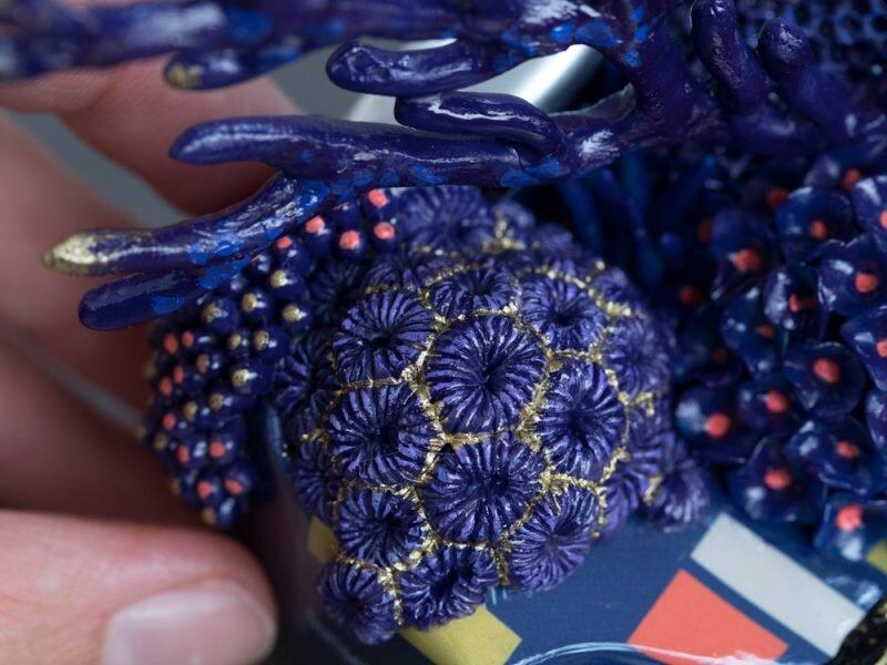 皇家珊瑚号,垃圾上的珊瑚雕塑,斯蒂芬妮·基尔加斯特,2019年