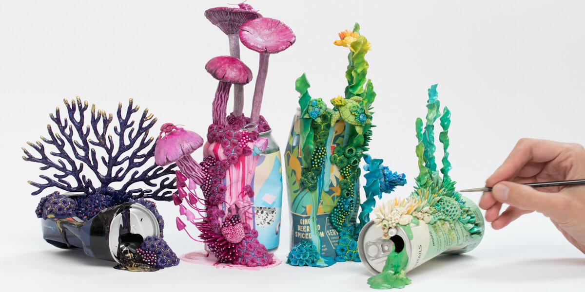 锡罐的增长,雕塑,2019年,斯蒂芬妮·基尔加斯特