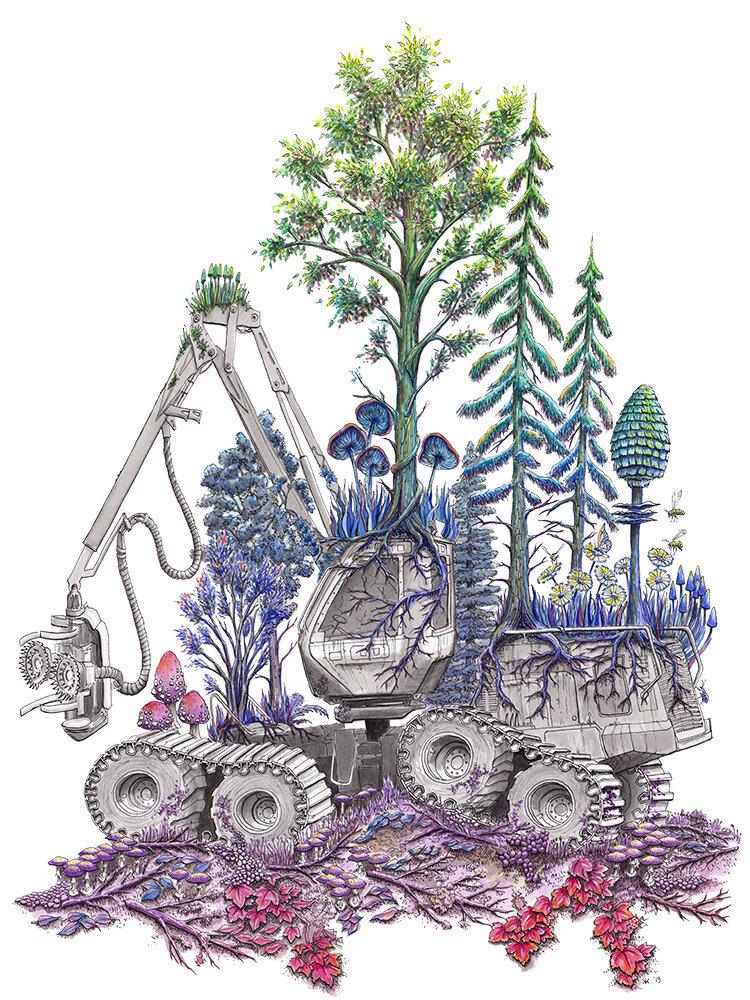 植树造林(伐木机)2019,斯蒂芬妮·基尔加斯特(Stephanie Kilgast)
