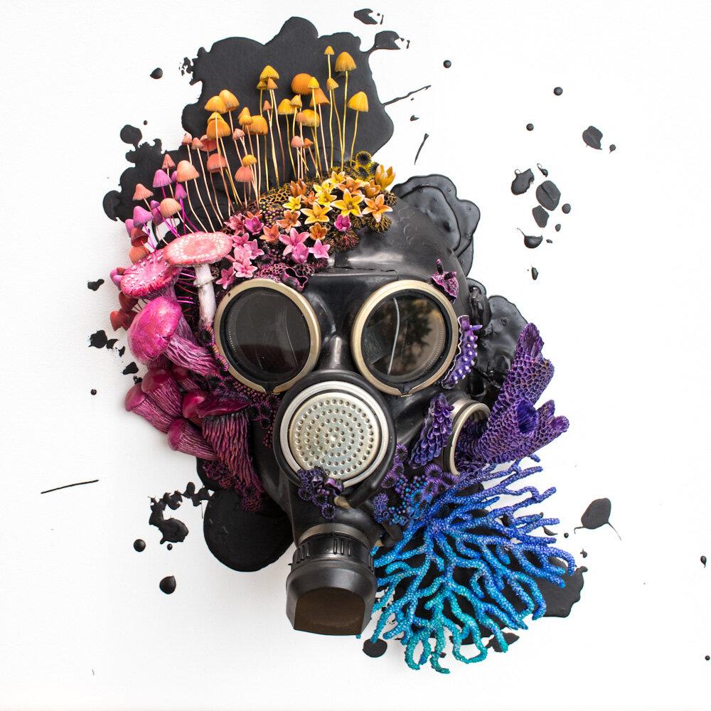 呼吸,防毒面具上的混合媒体11选5技巧,2020年,斯蒂芬妮·基尔加斯特(Stephanie Kilgast)