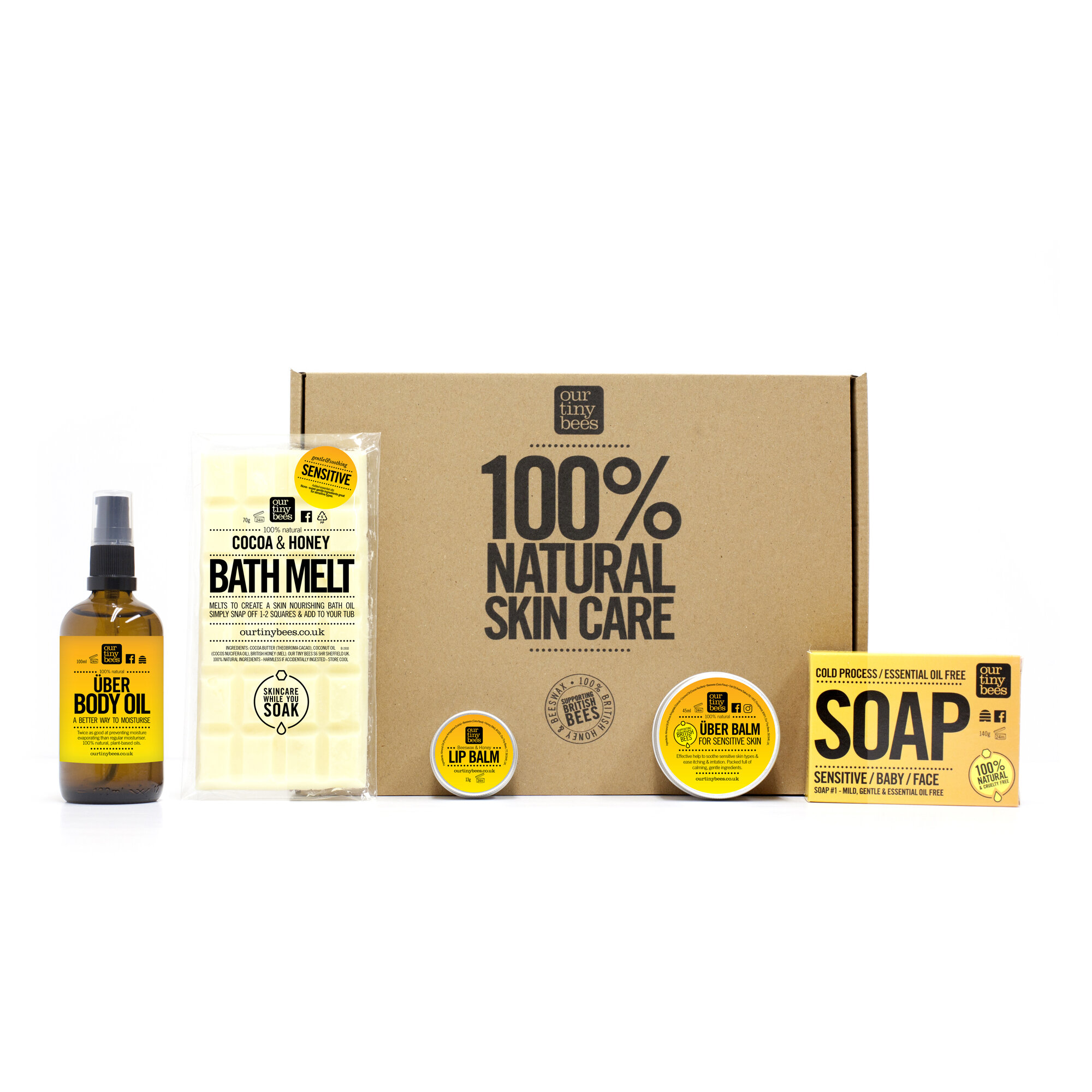 New Mum And Baby Gift Set Our Tiny Bees 100 Natural Skincare