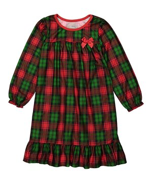 Green & Red Plaid Nightgown - Toddler & Girls  $14.99