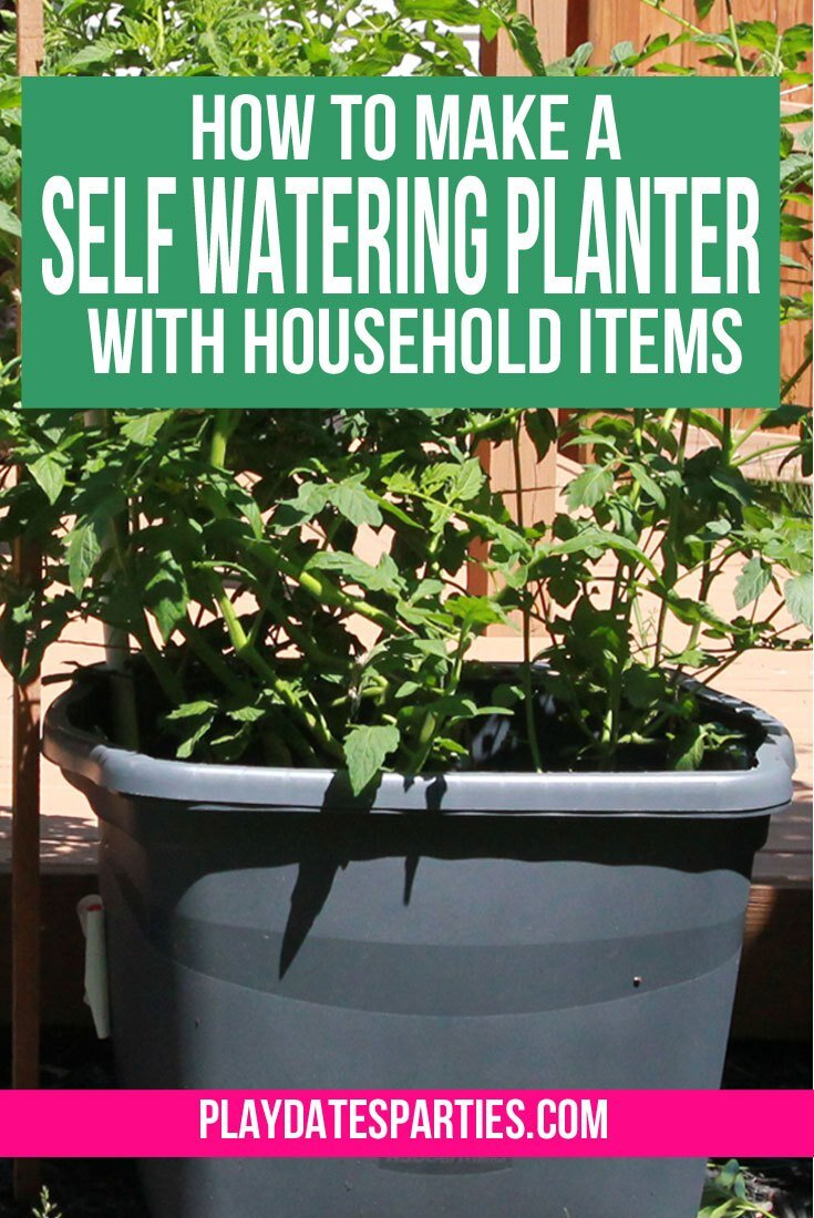 Self watering planters can be so expensive. This DIY self watering planter is perfect for container gardens.