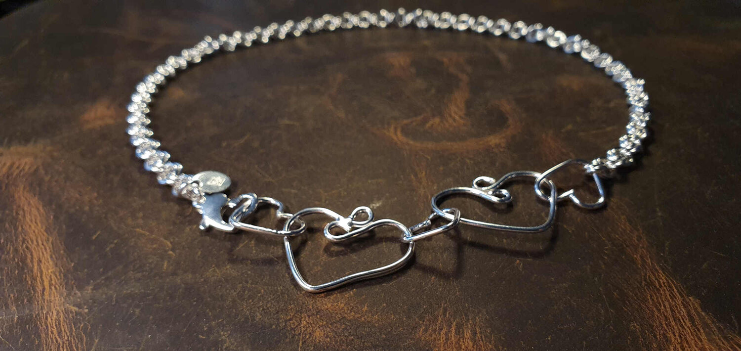 Hannibal unisex simple looped cord necklace with the charm of your choice.