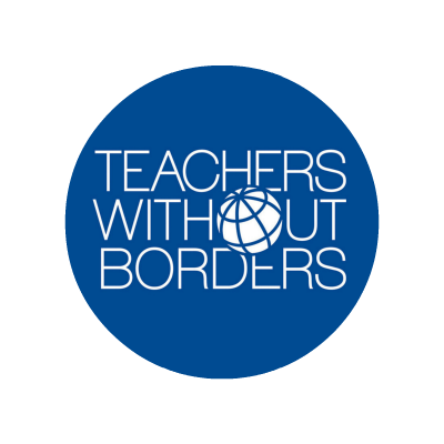 Teachers Without Borders Logo Globe for the O in Without