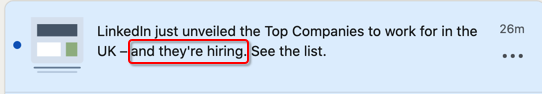 Call me a conspiracy theorist but it seems the criteria to be in the list 'might' include paying LinkedIn to advertise plenty of jobs!