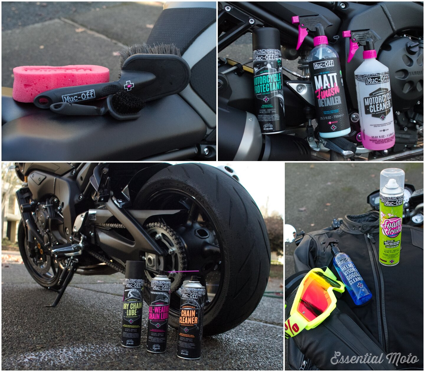 Muc-Off Motorcycle Products: The Best Way to Clean Your Bike All Year —  Essential Moto