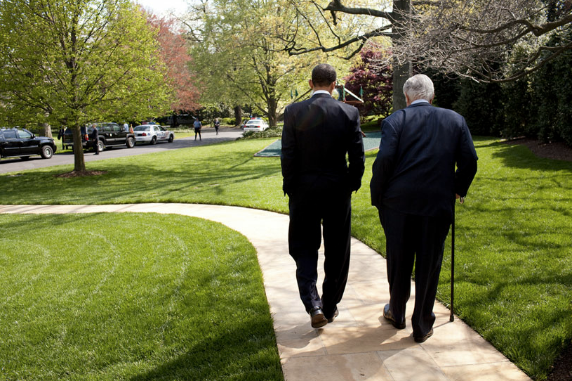President Obama and the late Sen. Ted Kennedy