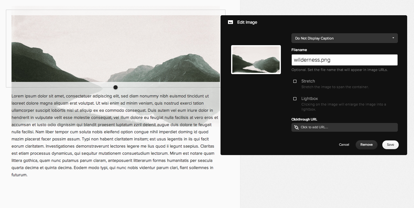 Screenshot of Squarespace LayoutEngine 2