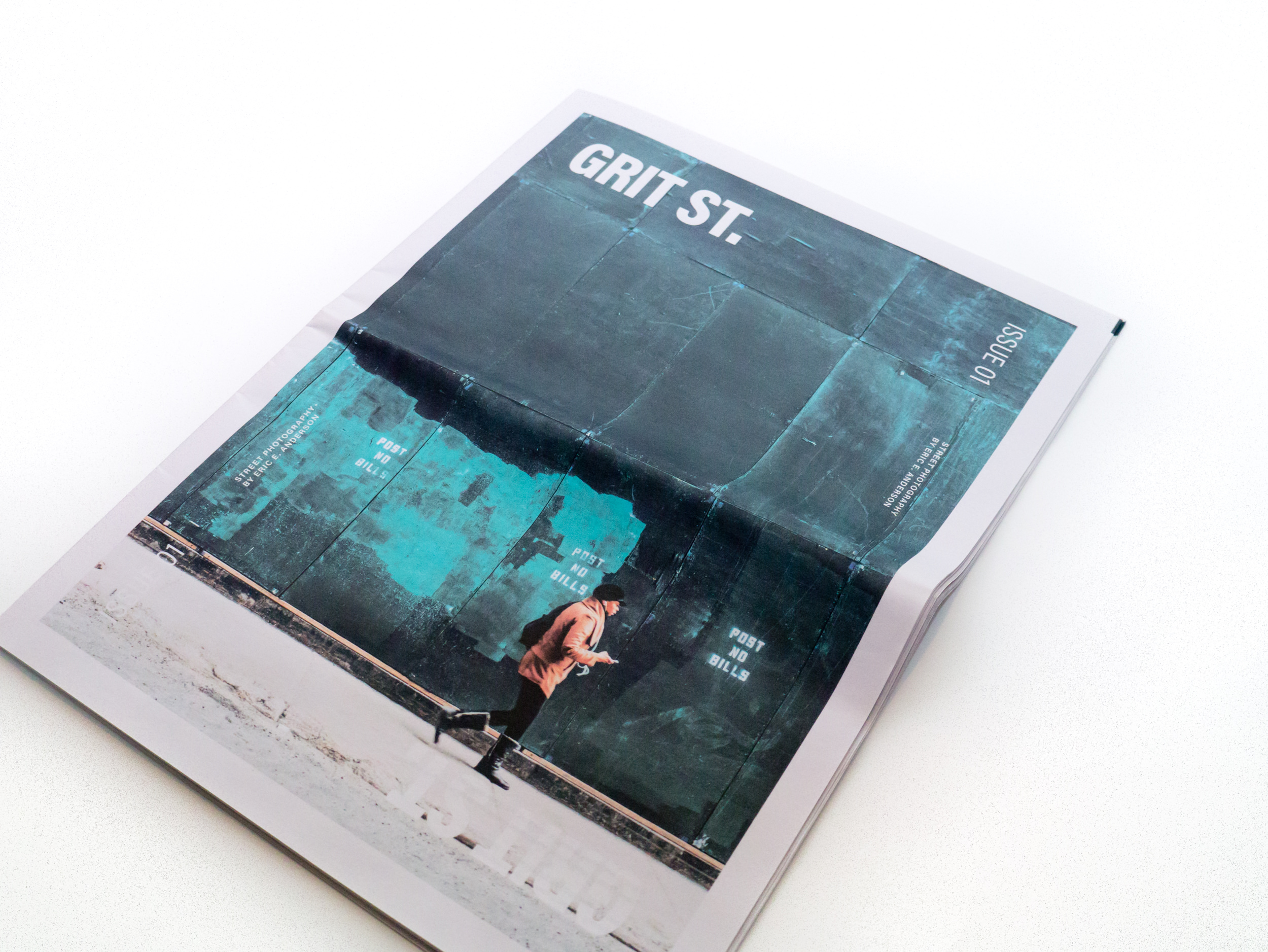 Cover of Grit St. Issue 01, Street Photography by Eric E. Anderson