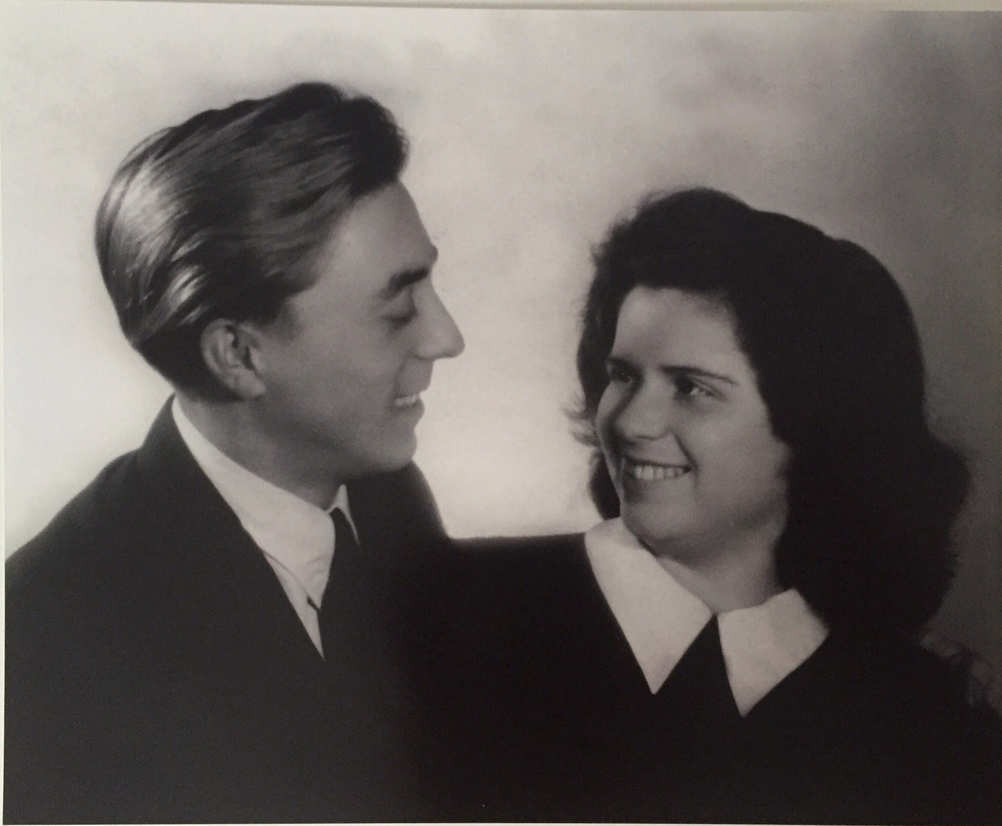 Nathan and Edith Roth. Engagement photo, just months after liberation, 1945.