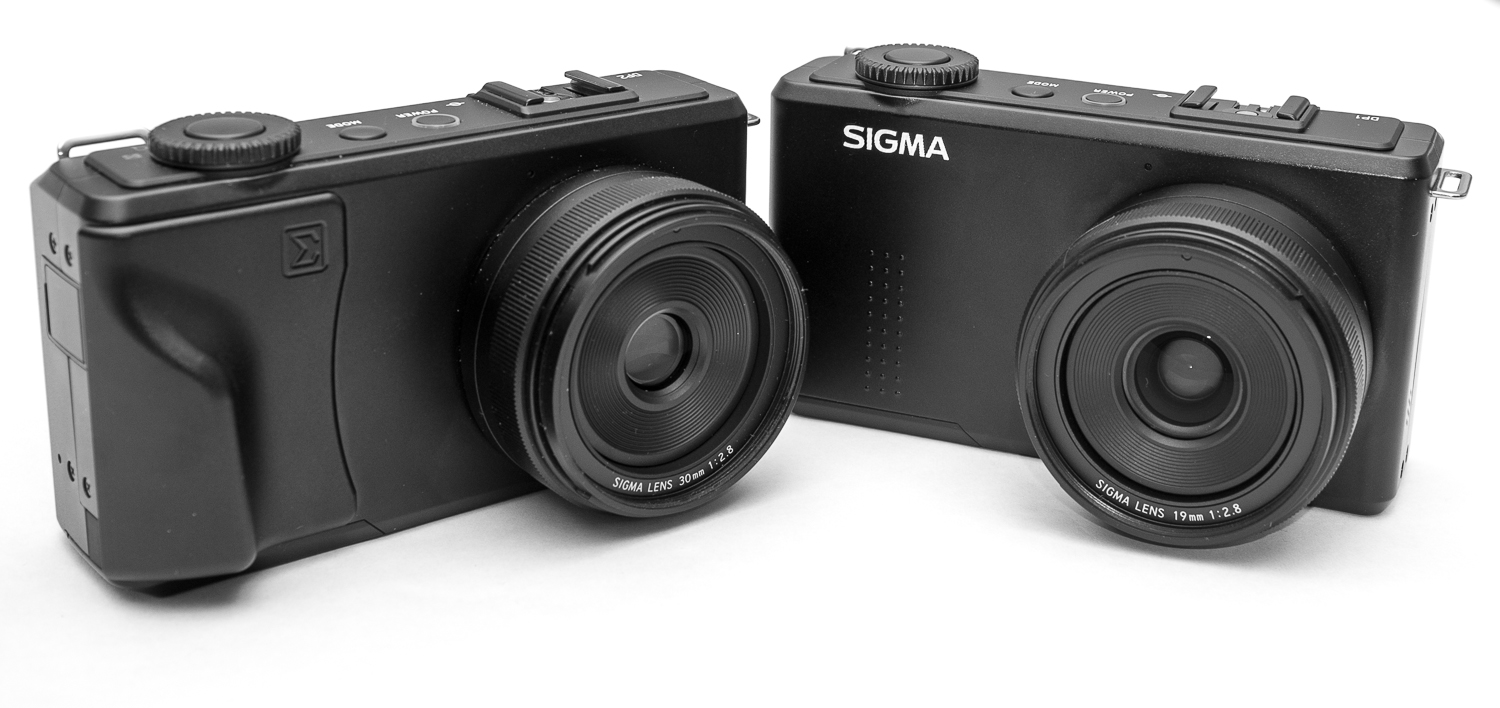 The Richard Franiec grip on the Sigma DP2 Merrill.  (Pictured next to the Sigma DP1.) Picture taken with X-100.