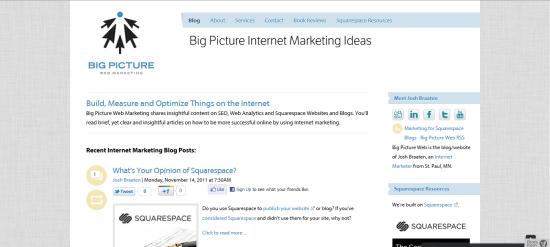 BigPictureWeb.com is a Squarespace website