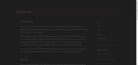 The Quiet Front Squarespace website review